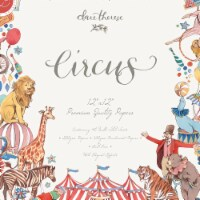 Craft Consortium PAD017 12 x 12 in. Double-Sided Paper Pad - Circus, Pack of 40 - 1
