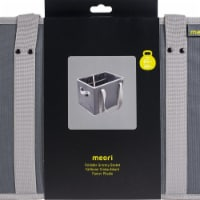 Meori A100549 Foldable Grocery Basket, Granite Grey Solid