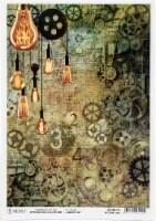 Ciao Bella Rice Paper Sheet A4 5/Pkg-Modern Times - 1
