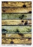 Ciao Bella Rice Paper Sheet A4 5/Pkg-Industrial Wood, Modern Times - 1
