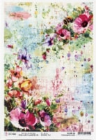 Ciao Bella Rice Paper Sheet A4 5/Pkg-Wildflowers & Bees, Microcosmos - 1