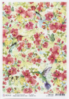 Ciao Bella Rice Paper Sheet A4 5/Pkg-Nature's Midst, Microcosmos - 1