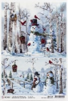 Ciao Bella Rice Paper Sheet A4 5/Pkg-Cards, Northern Lights - 1