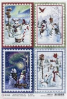 Ciao Bella Rice Paper Sheet A4 5/Pkg-Stamps, Northern Lights - 1