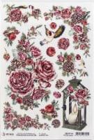 Ciao Bella Rice Paper Sheet A4 5/Pkg-Frozen Roses - 1