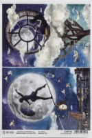 Ciao Bella Rice Paper Sheet A4 5/Pkg-In The Moonlight, Moon & Me - 1