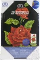 Diamond Dotz Pre-Framed Diamond Art Kit 10.6 X16.5 -Red Rose Corsage - 1