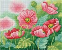 Diamond Dotz Pre-Framed Square Diamond Art Kit 11.8 X14.75 -Watercolour Poppies - 1