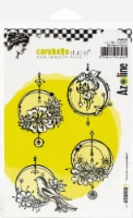 Carabelle Studio Cling Stamp A6 By Azoline-Hanging Circles - 1