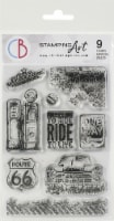 Ciao Bella Stamping Art Clear Stamps 4 X6 -Gas Station - 1