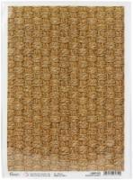 Ciao Bella Rice Paper Sheet A4 5/Pkg-Seagrass Basket, Delta - 1