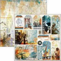 Ciao Bella Double-Sided Cardstock 90lb 12 X12 -Cards & Tags, Blue Note - 1