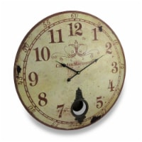 Cafe De Marguerites Vintage Style Pendulum Wall Clock 23 In. - Small
