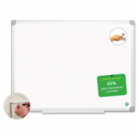 Mastervision Earth Easy-Clean Dry Erase Board, White/Silver, 24x36 MA0300790 - 1