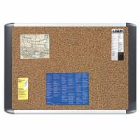 Mastervision Tech Cork Board, 24x36, Silver/Black Frame MVI030501 - 1