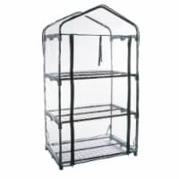 Genesis GEN-3PVC 3 Tier Portable Rolling Greenhouse with Clear Cover - 1