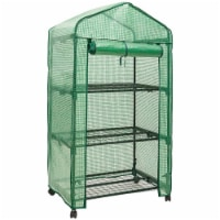 Genesis GEN-3PE 3 Tier Portable Rolling Greenhouse with Opaque Cover - 1