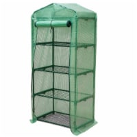 Genesis GEN-4PE 4 Tier Portable Rolling Greenhouse with Opaque Cover - 1
