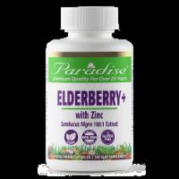 Paradise Herbs Elderberry + with Zinc Supplement Vegetarian Capsules