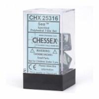 Chessex 7 Set Polyhedral Dice Sea CHX25316 - 1 Unit