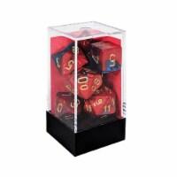 Chessex 7 Set Dice Gemini Blue-Red/Gold CHX 26429