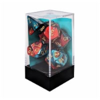 Chessex 7 Set Dice Gemini Red-Teal/Gold CHX 26462 - 1 Unit