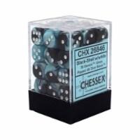 Chessex 12mm D6 Set Dice 36 Count Gemini Black-Shell White CHX 26846 - 1 Unit