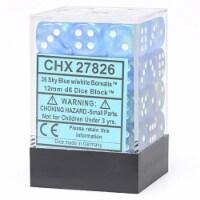 Chessex 12mm D6 Set Dice 36 Count Sky Blue White CHX 27826