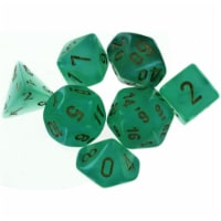Chessex Manufacturing CHX27575 Cube Borealis Luminary Dice, Light Green with Gold Numbers - S