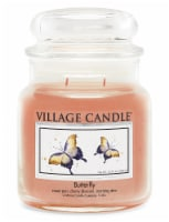 Village Candle Butterfly Scented Jar Candle - Peach
