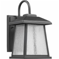 CHLOE Frontier Transitional LED Textured Black Outdoor Wall Sconce 12  Height - 1