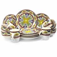 Elama Countryside Sunrise 16-Piece Stoneware Dinnerware Set - Each