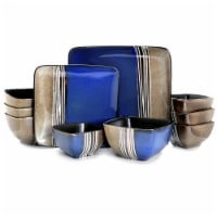 Elama Uptown Loft 16 Piece Double Bowl Stoneware Dinnerware Set with Service for 4 - Each