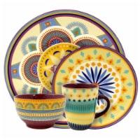 Elama ELM-PUESTA-DE-SOL-16 Puesta De Sol 16 Piece Service for 4 Stoneware Dinnerware Set