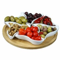 Elama Signature EL-169 10.75 in. Modern Lazy Susan Appetizer & Condiment Server Set with 6 Un