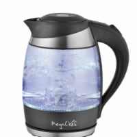 Megachef MGKTL-1757 1.8 Litre Glass & Stainless Steel Electric Tea Kettle