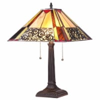 EVELYN Tiffany-style 2 Light Mission Table Lamp 16  Shade - 1 unit