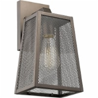 CHLOE Emerson Industrial 1 Light Rubbed Bronze Outdoor Wall Sconce 12  Tall - 1