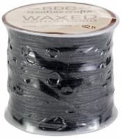 Waxed Cotton Bracelet Cord 1mmX24m-Black - 1