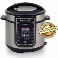 MEGACHEF MCPR100A Quart Digital Pressure Cooker with 14 Pre-set Multi Function