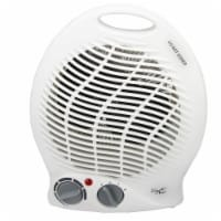 Vie Air VA-301B 2-Settings White Home Fan Heater With Adjustable Thermostat - 1