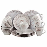 Elama Malibu Sands 16-Piece Dinnerware Set in Shell - Each