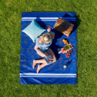 Cgear -patented Sand Multi Use Outdoor Camping Mat Navy Triangle - 1