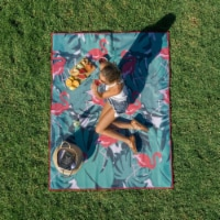 Cgear -patented Sand Multi Use Outdoor Camping Mat Pink Flamingo - 1