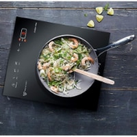 Megachef MC-1400 Portable 1400W Single Induction Cooktop with Digital Control Panel - Black - 1