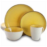 Elama Mellow-Yellow 16-Piece Dinnerware Set