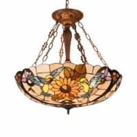 Lighting SOAR Tiffany-style Dark Antique Bronze 4 light Animal Ceiling Pendant 28  Wide - 1 unit