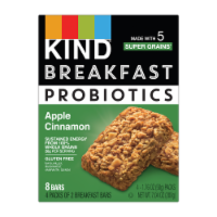 Kind Probiotics Apple Cinnamon Breakfast Bars
