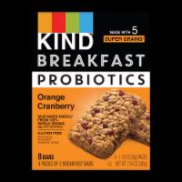 KIND Breakfast Probiotics Orange Cranberry Breakfast Bars - 4 ct / 1.76 oz