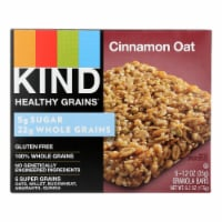 Kind Healthy Grains Bars - Cinnamon Oat - Case of 8 - 5/1.2 oz - 5/1.2 OZ